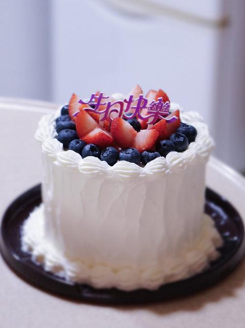 Fruit Whipping Cream Cake