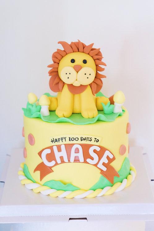 Little Lion Fondant Cake