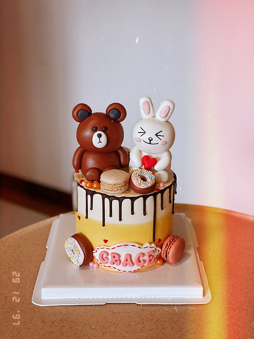 Line Dolls Cream Cake