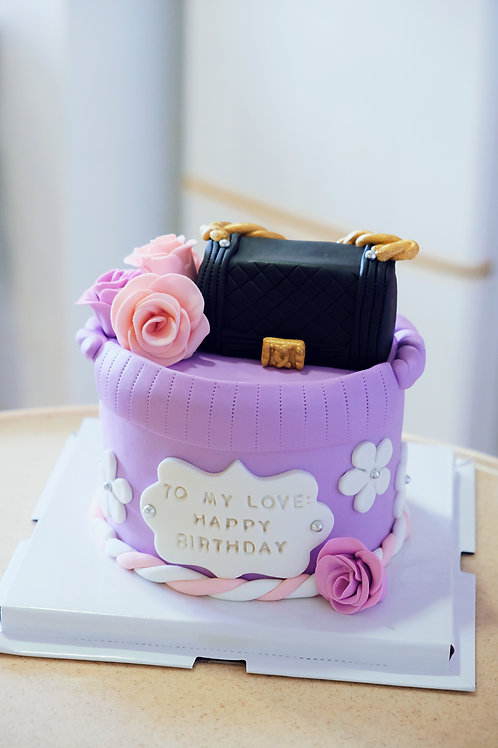 Chanel Boy Giftbag Fondant Cake