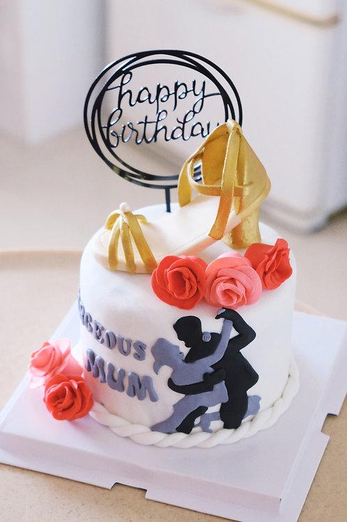 Dancing Heels Fondant Cake