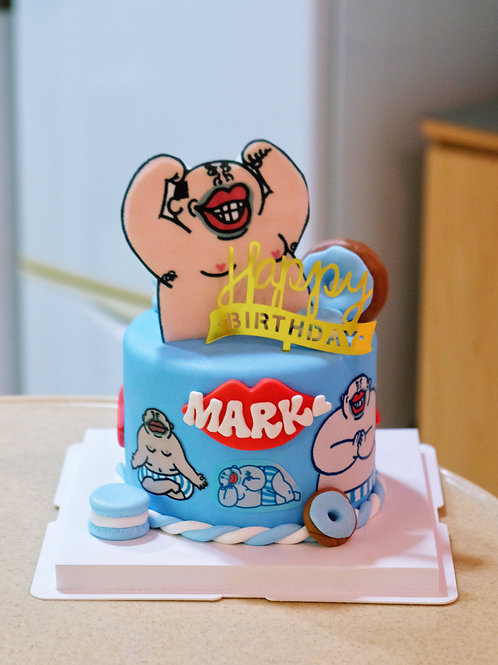 Personalised Cartoon Fondant Cake
