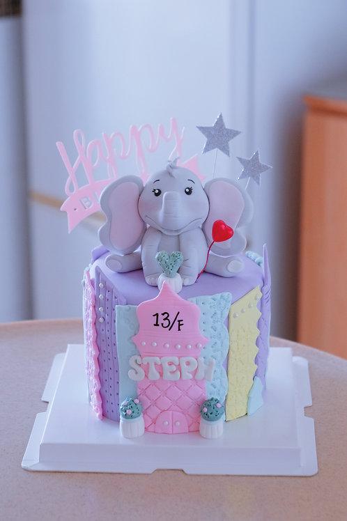 Elephant Fondant Cake