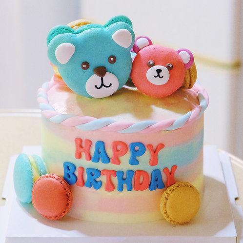 Bear Macaroon Cake