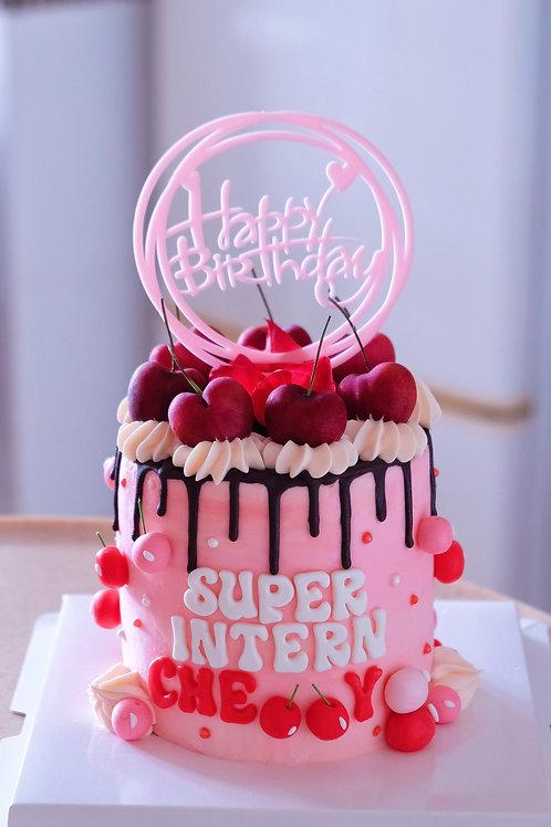 Pink Cherries Cake