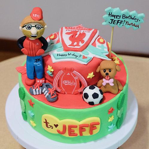 To the Liverpool Fan - Fondant Cake
