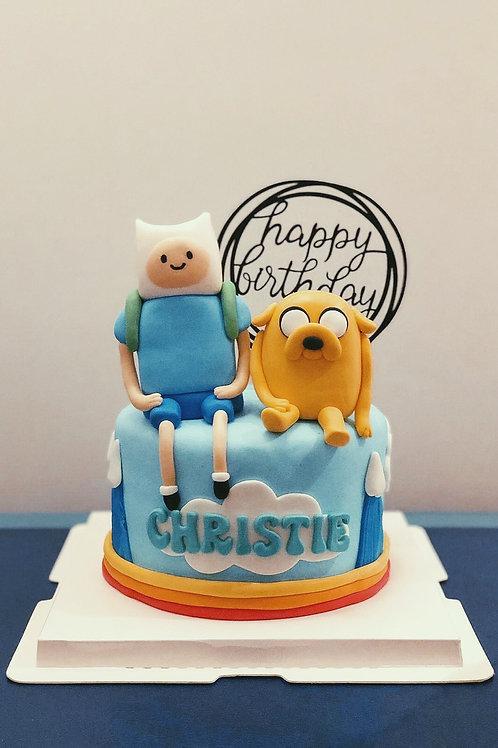 Adventure Time Fondant Cake