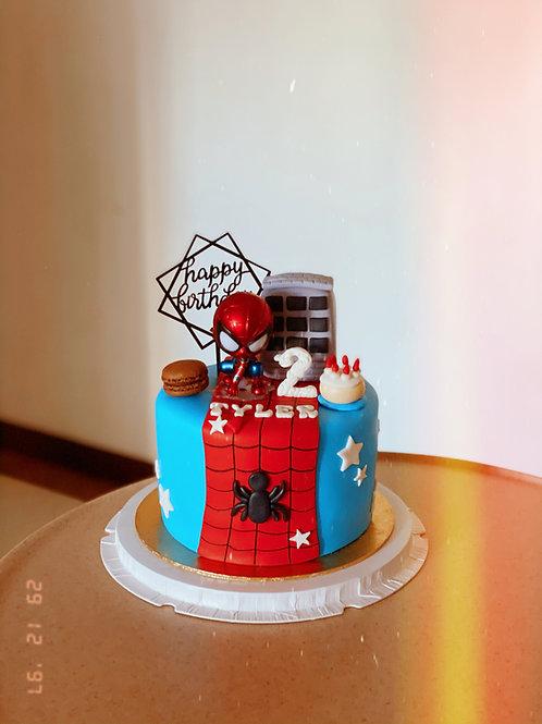 Spider Man Fondant Cake