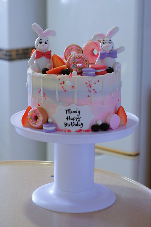 Rabbits Cake(with the cake popping stand)