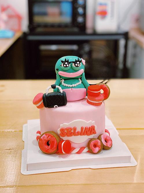 Pepe Frog Fondant Cake