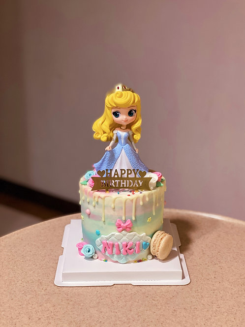 Sleeping Beauty Cream Cake