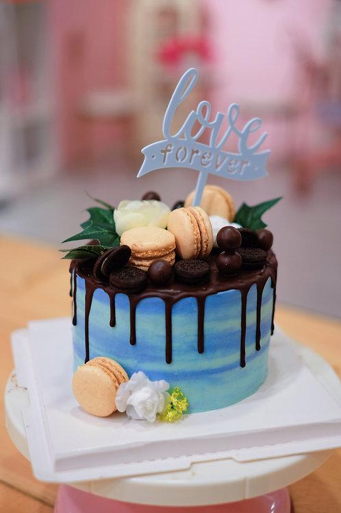 Macaroons Cream Cake