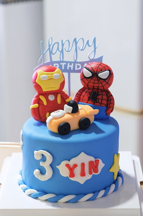 Marvel Heroes Fondant Cake