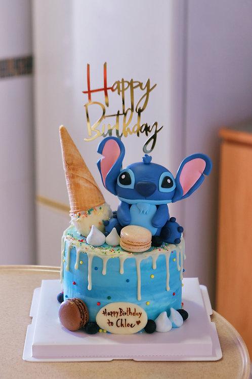 Stitch Cream Cake
