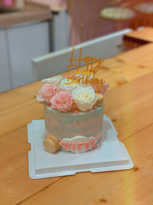 Floral Cream Cake