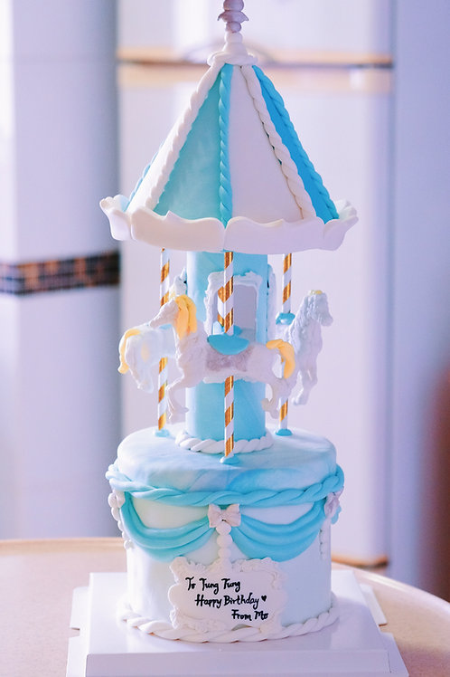 The Blue Carousel Cake