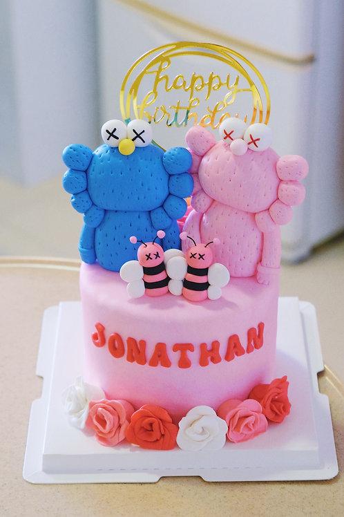 Kaws Fondant Cake