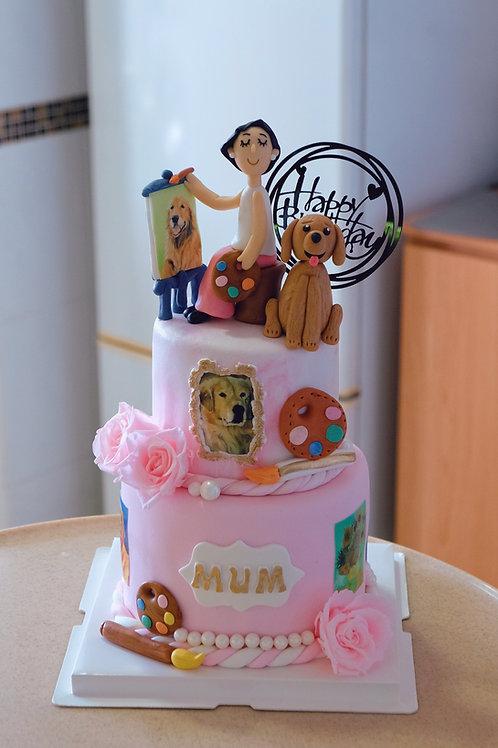For Mum Fondant Cake