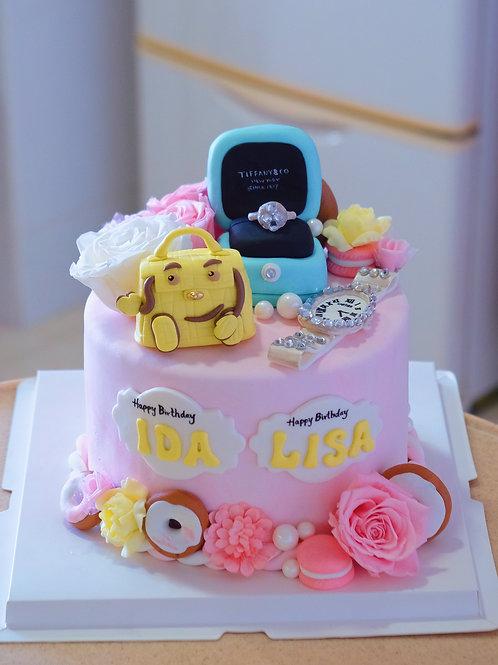 Girly Essentials Cake