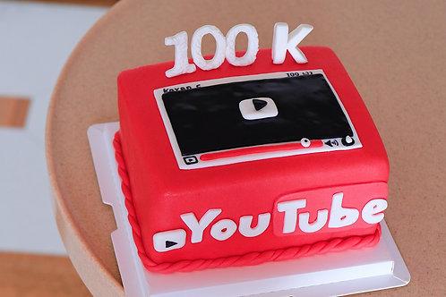 Youtube 100K Cake
