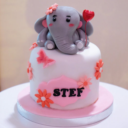 The Floral Elephant - Fondant Cake
