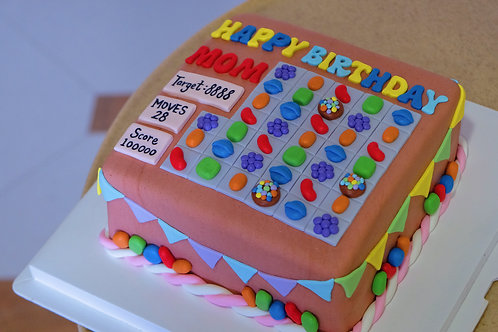 Candy Crush Fondant Cake