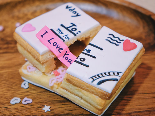 Valentines Letter Cookie