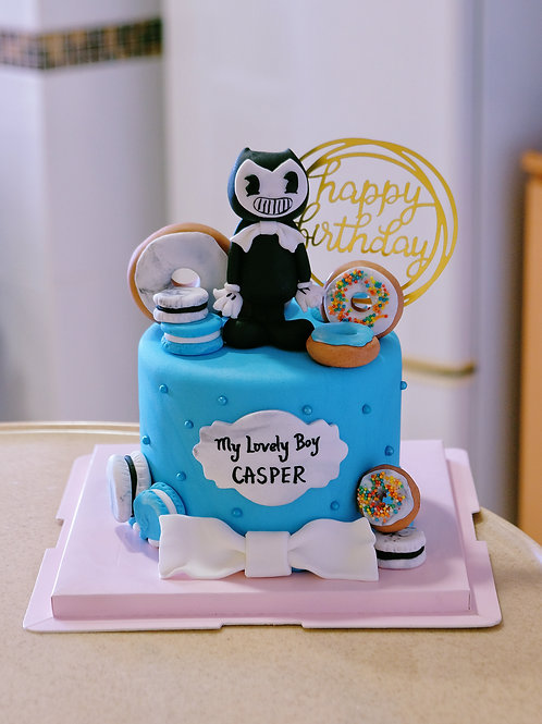 Customized Cartoon Fondant Cake
