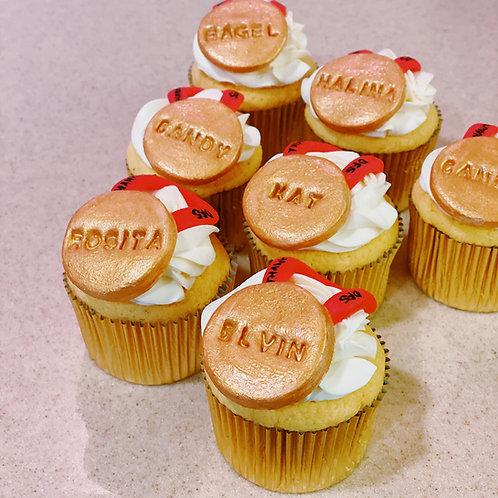 Farewell Medals Cupcakes