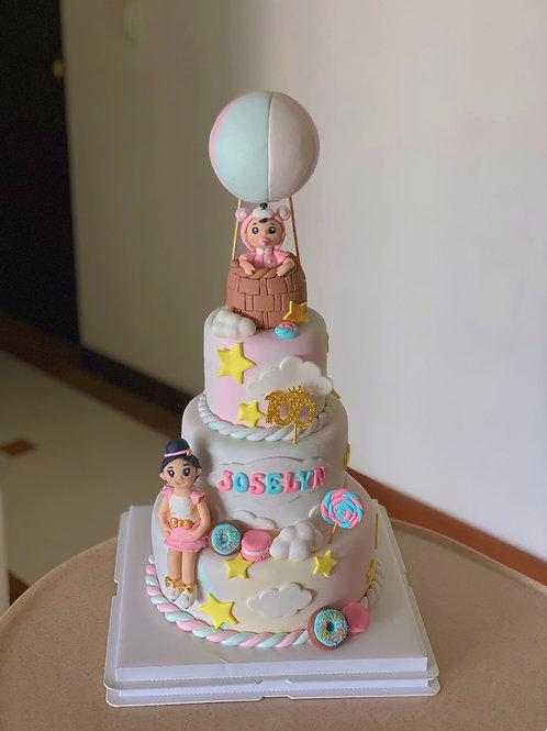Pastel Themed Cake
