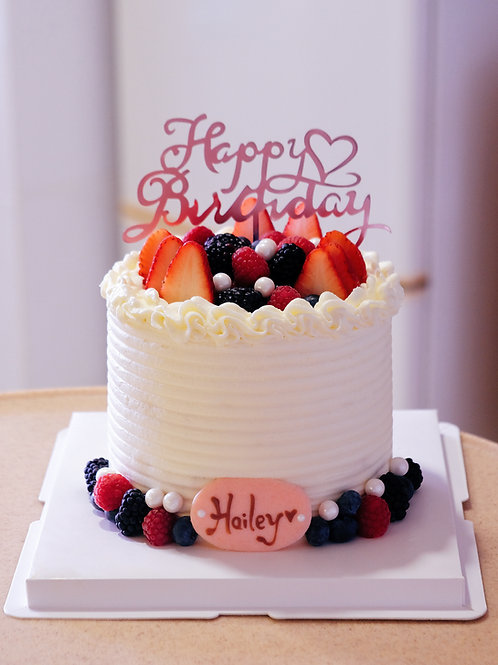 Fruits Cream Cake