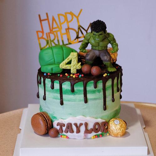 Hulk Cream Cake