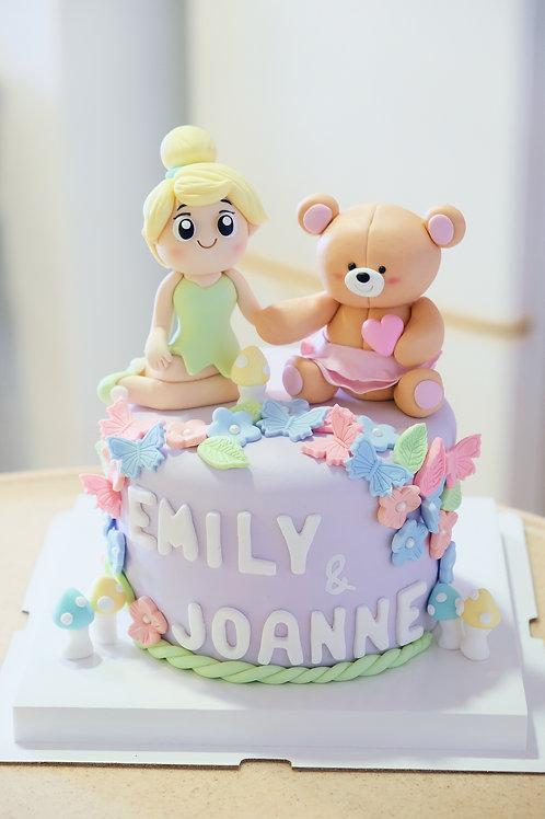 Tinker Bell & Forever Friends Fondant Cake