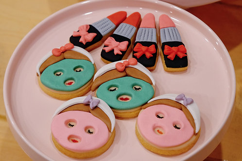 Facial Girly themed cookies