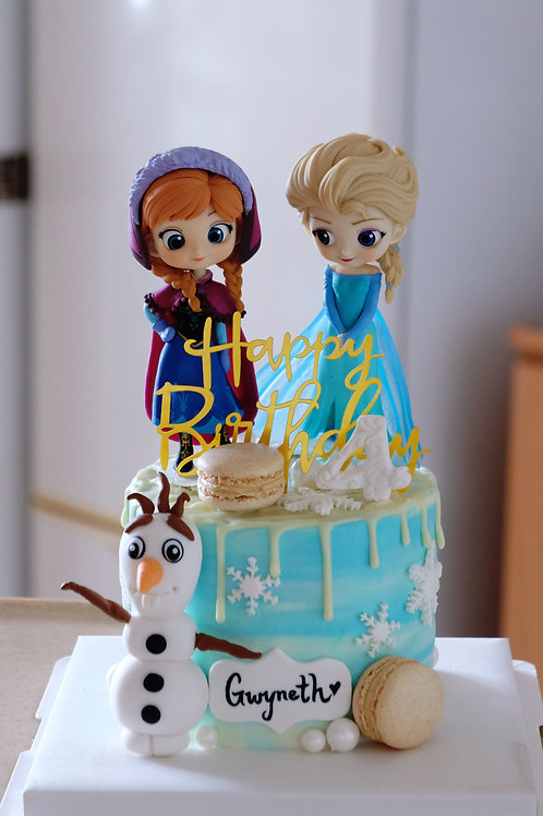 Frozen & Olaf Cream Cake