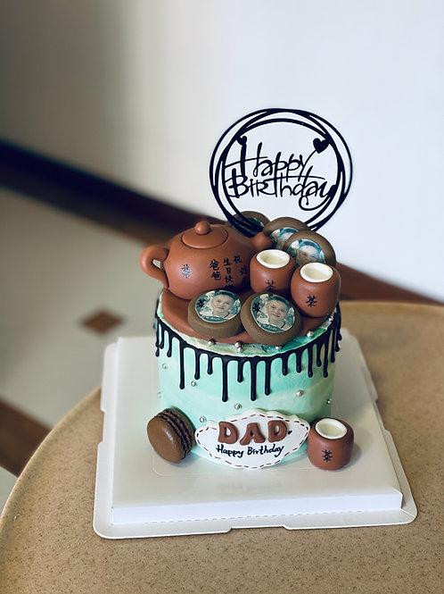 Teacup Set Fondant Cake