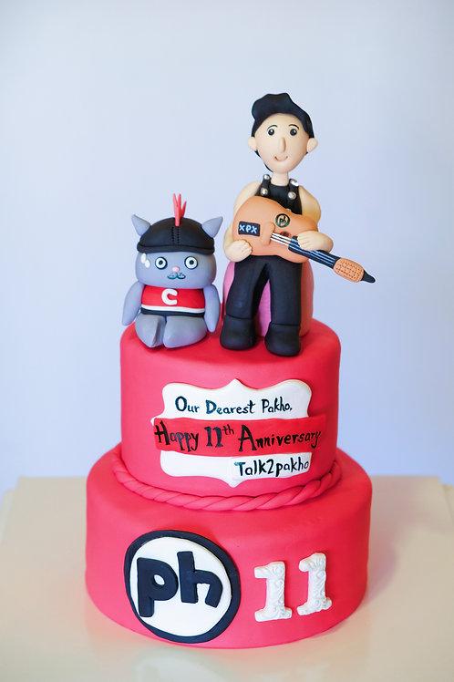 PH x CATXMAN Happy 11 - Fondant Cake