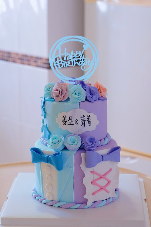 Floral Two themed Cake