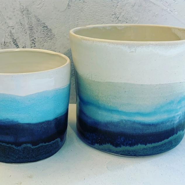 Small and Medium Scottish Landscape pots, £14 & £18