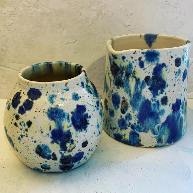 Bud vase £12 and small handleless jug £20
