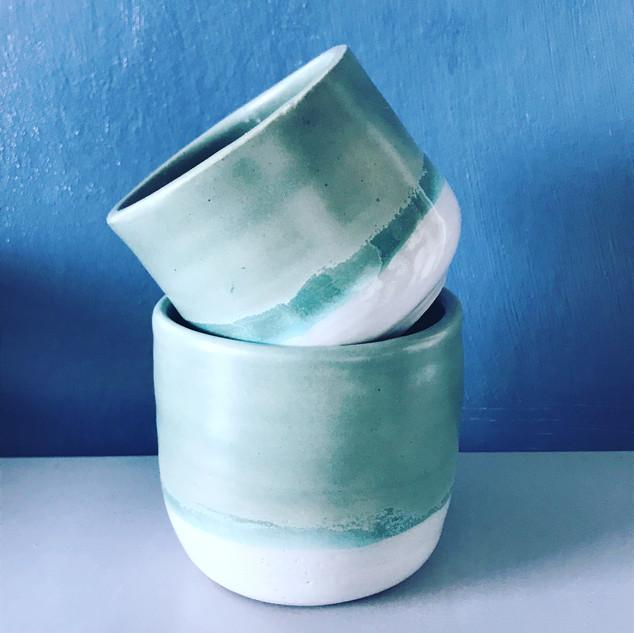 Small and medium pots £14 & £18