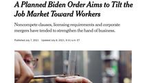 Increasing Competition in the Labor Market (NYTimes)
