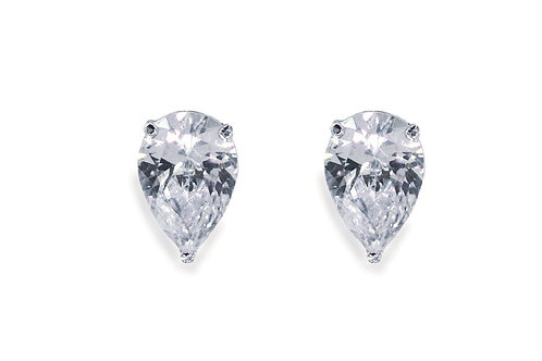 Silver Crystal Studs