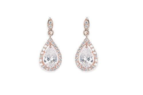Belmont Rose Gold Earrings By Ivory & Co