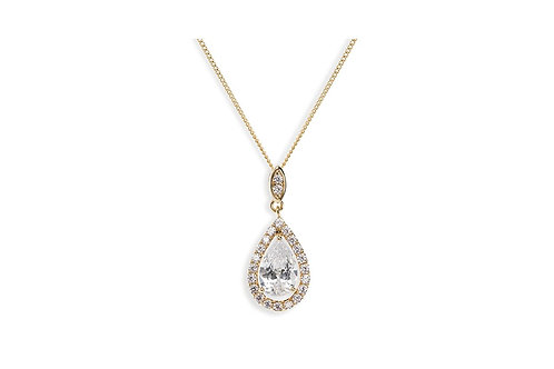 Belmont Gold Pendant By Ivory & Co