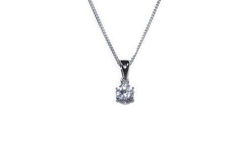 Solitaire Necklace By Ivory & Co