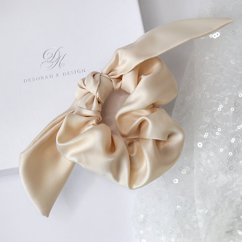 Satin Bridal Scrunchie