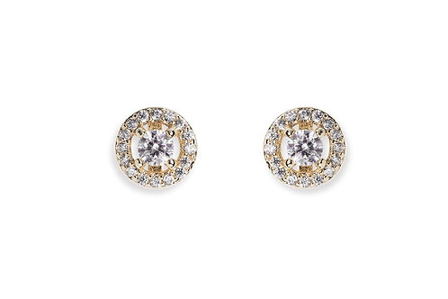 Balmoral Gold Earrings By Ivory & Co