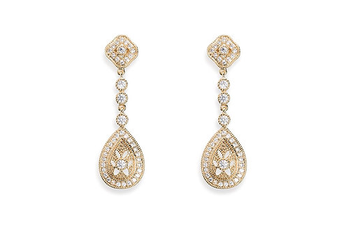 Moonstruck Gold Earrings By Ivory & Co