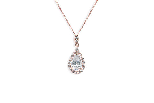 Belmont Rose Pendant By Ivory & Co